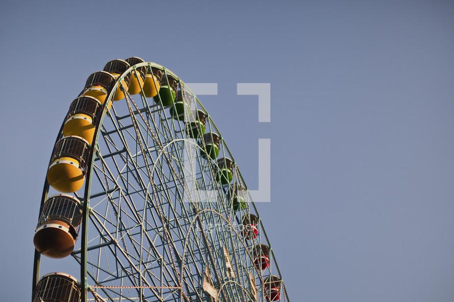 A ferris wheel.