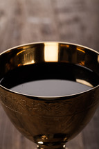 wine in a chalice at eucharist