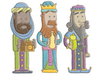 nativity wise men cartoons
