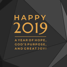 new year 2019 social media graphic slide background