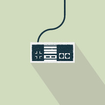 illustration of video game controller.