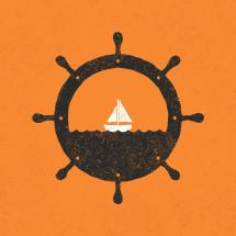nautical scene illustration.