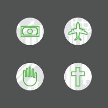 missions icon set