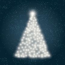 Christmas tree of lights.