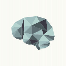 geometric brain illustration.