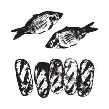 five loaves and two fish vectors.