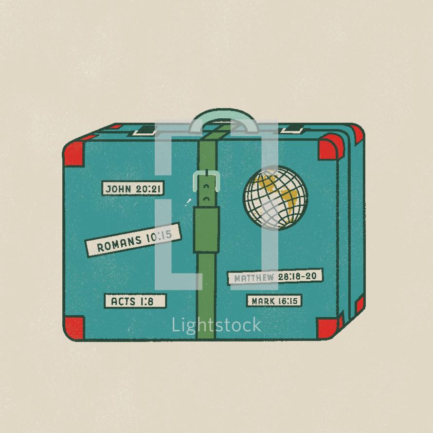 missions suitcase
