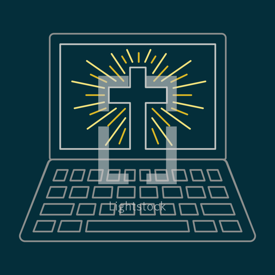computer with cross