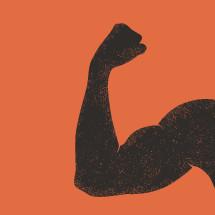 flexing muscle