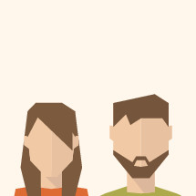 faceless man and woman illustration.