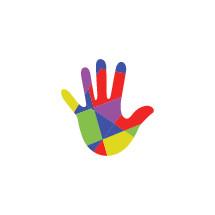 colorful handprint