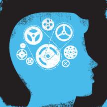 conceptual thinking man illustration.