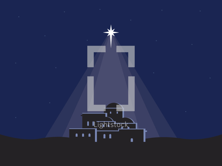 Bethlehem and star illustration