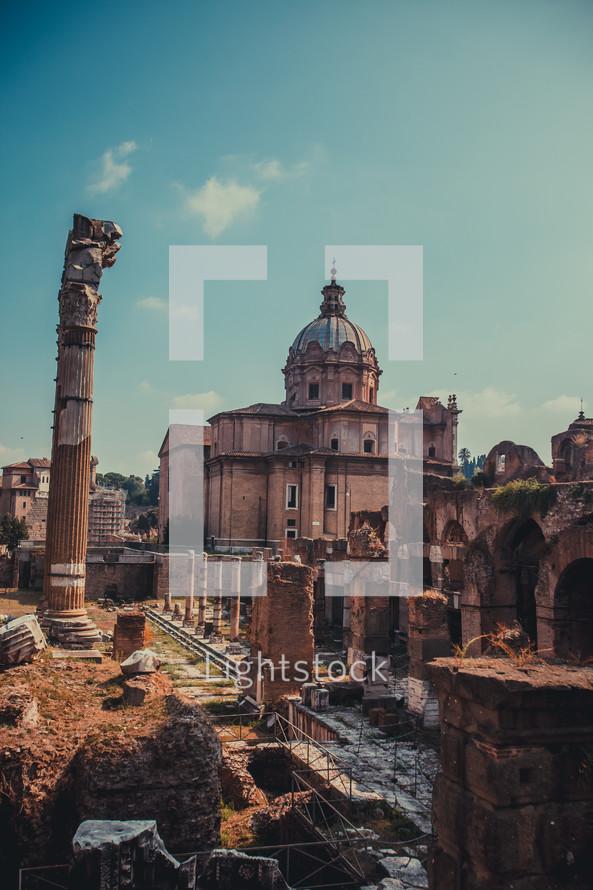 ruins in Europe