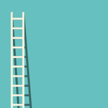 Flat illustration of ladder with shadow.