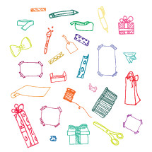 gift wrap icon set