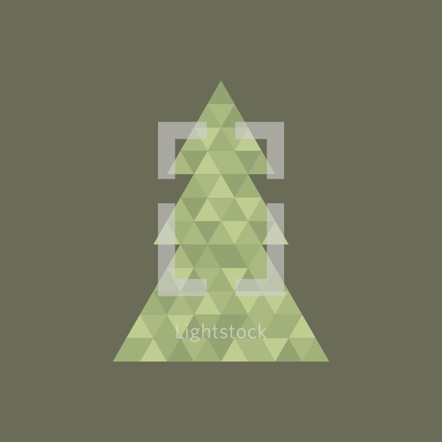 geometric Christmas tree.