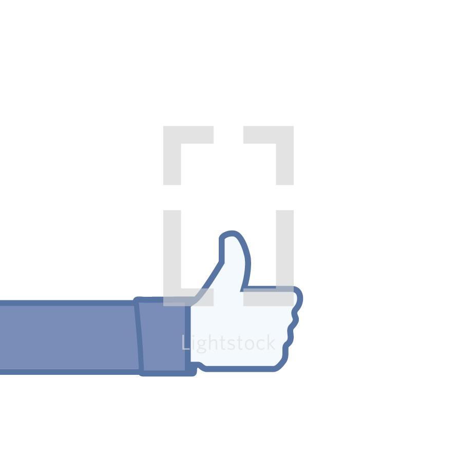 thumbs up illustration.