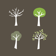 seasonal tree illustrations.