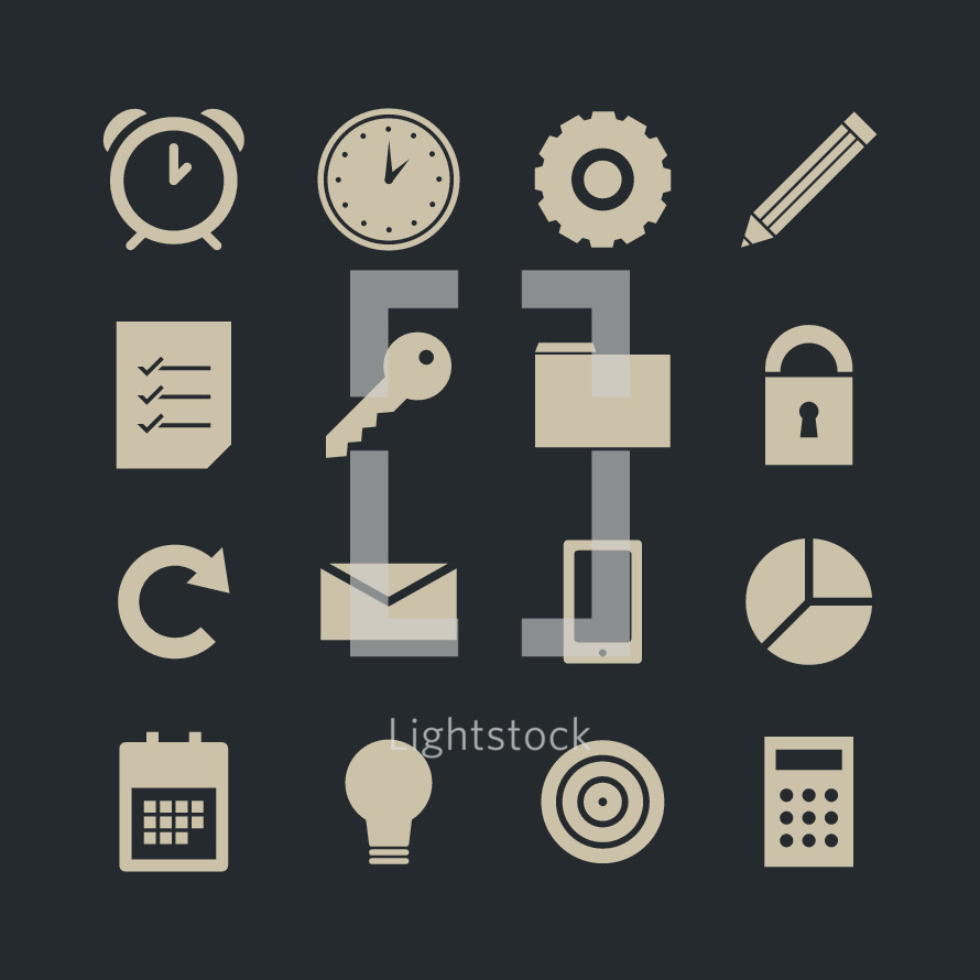 work icons pack for websites.