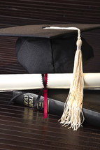 graduation, cap, tassel, Bible