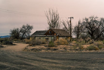 abandoned home in the desert