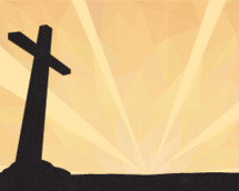 Vector background of the cross against a geometric sky