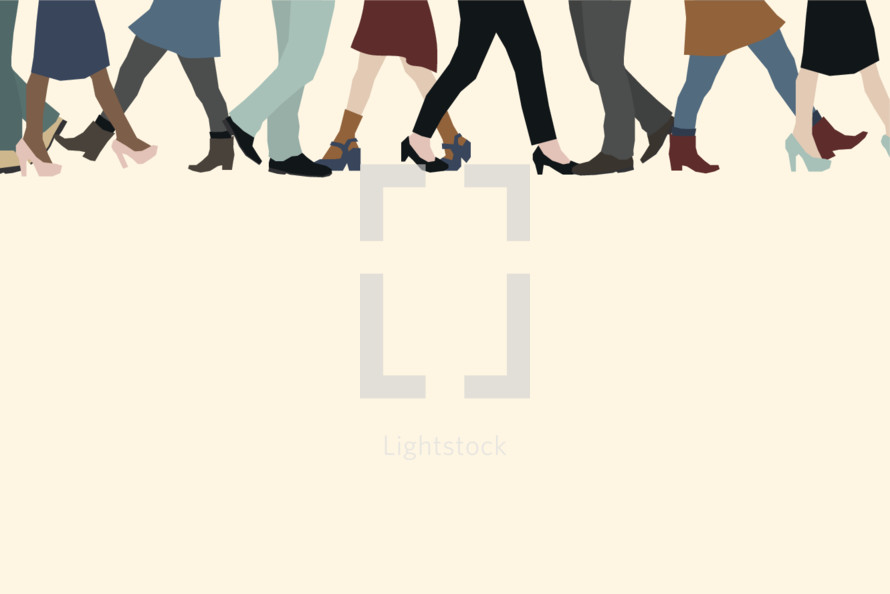 walking legs illustration.