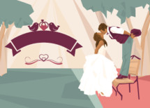 A  wedding or engagement illustration