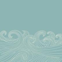 hand sketched waves illustration.