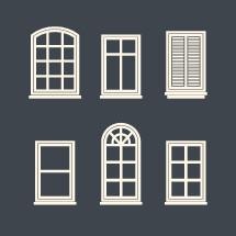 window pane illustrations.