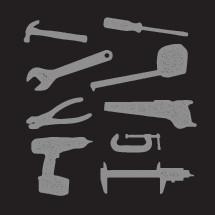 Grunge tools icons.