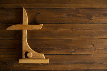 carved cross and empty tomb out of wood
