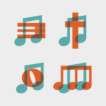 music note icons.