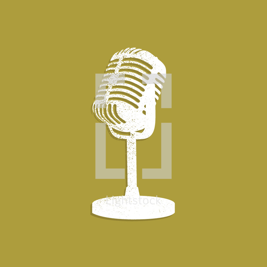 microphone on yellow background