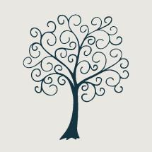 swirly tree illustration.