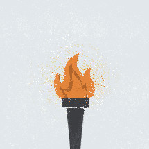 olympic torch illustration.