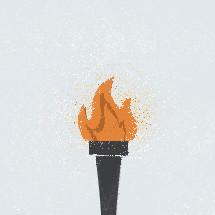 olympic torch illustration.