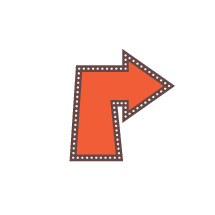 marquee sign arrow