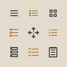 menu icons