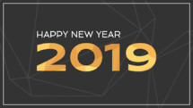 Happy New Year 2019 video slide social media background