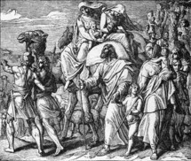Jacob leaves for Canaan, Genesis 31, 17-18