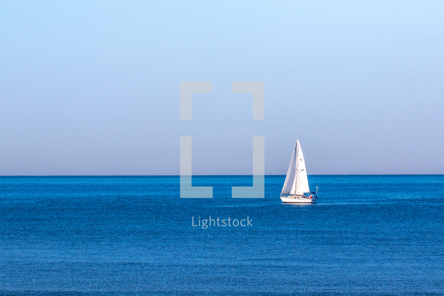 sailboat on calm water