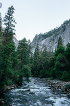 river through Yosemite National Park