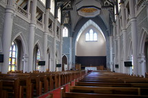 Interior of Suzhou Lake Three Self Patriotic Church. China