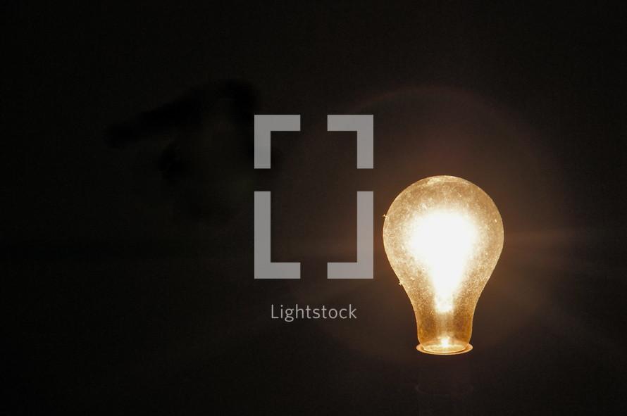 Light bulb illumination -  Inspiration, idea, brain wave