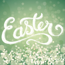 Easter hand lettering with a bokeh background, easter, text, word, green, spring, resurrection