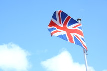 British flag on a flagpole
