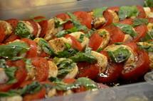 Fresh home made tomato mozzarella salad.