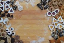 Christmas cookies border or frame